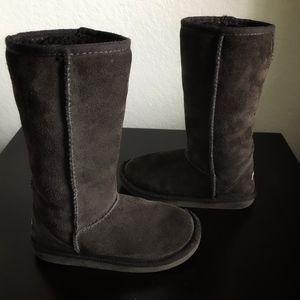 Ukala Sydney Dark Brown Kids Winter Boots